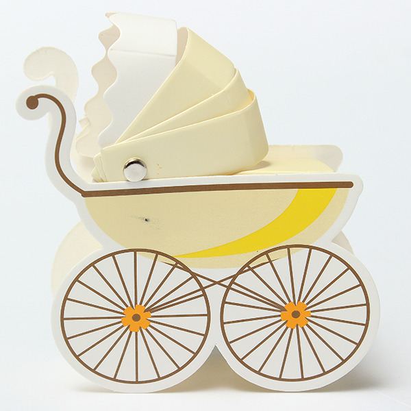10Pcs Baby Stroller Shape Wedding Party Favor Decoration Gift Box Festival Gifts & Party Supplies