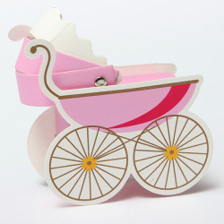10Pcs Baby Stroller Shape Wedding Party Favor Decoration Gift Box