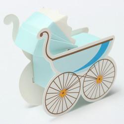 10Pcs Baby Stroller Shape Wedding Party Favor Decoration Gift Box
