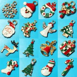 11 Mixed Gold Christmas Gifts Anhänger Baum Deer Anhänger Schneeflocke