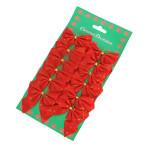 12PCS Christmas Decoration Bwoknots Festival Gifts & Party Supplies