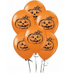 20X 12 Inch Orange Pumpkin Jack Balloons Halloween Party Decoration