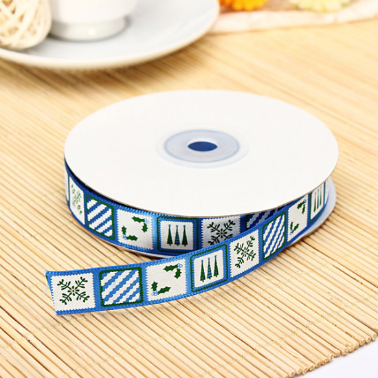 25 Yards Christmas Elements Printing Decoration Ribbon 2021
