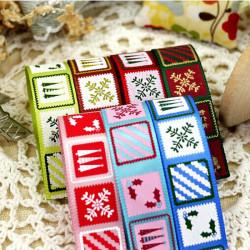 25 Yards Christmas Elements Printing Decoration Ribbon