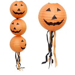 30cm Foldable Pumpkin Paper Lantern Halloween Decoration Supplies