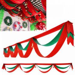 340cm Jul Bølget Bøjle Flag med Bells Hotel Bar Boligmontering
