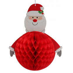 3D Christmas Santa Party Decorations Paper Hanging Lantern