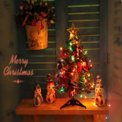 40cm Luksus Mini Juletræ med Lys Desktop Dekoration