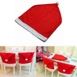 4PCS Santa Clause Red Hat Christmas Chair Cover Dinner Decor