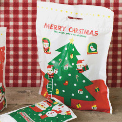 50Pcs/lot Cute Christmas Tree Snowman Gift Bags Christmas Decoration