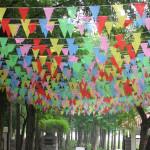50m Verleihung String Flags Warnflaggen Farbe Wimpel Flaggen Partyzubehör
