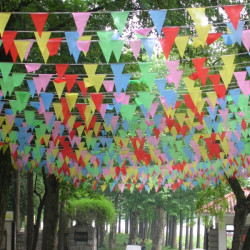 50m Ceremony String Flags Warning Flags Color Pennant Flags