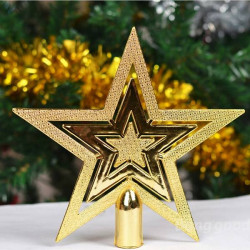 5Pcs Star On The Christmas Tree Top Pendant Christmas Decoration