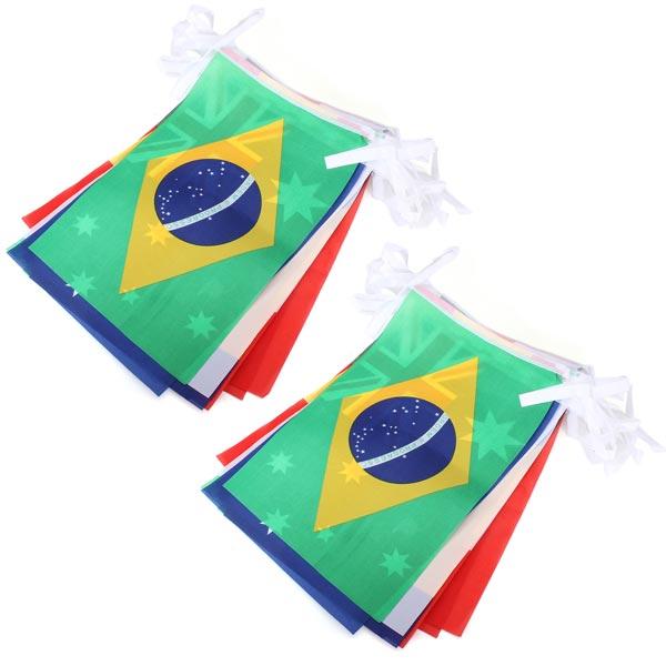 5 Indstil Brasilien VM Top 32 String Flags Bar Restaurant Dekoration Festival Gaver & Festartikler