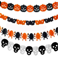 7Styles Halloween Paper Garland Decorations Halloween Props