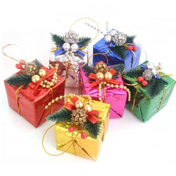Et Sæt På Seks Farverige Lille Gaveæske Juledekoration Supplies Festival Gaver & Festartikler