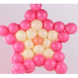 Fødselsdag Bryllupsfest Dekoration DIY Hjerte Stjerne Grid Balloon