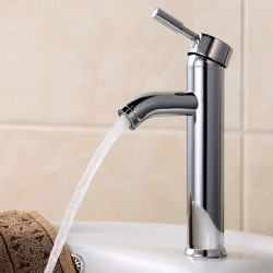 Brass Single Hole Basin Hot And Cold Water Mixer Bathroom Faucets