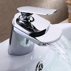 Messing Wide Mouth Vandfald Håndvasken Vandhane