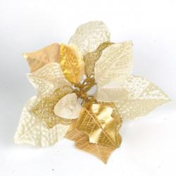 Brilliance Guld Blomma Julgran Dekoration