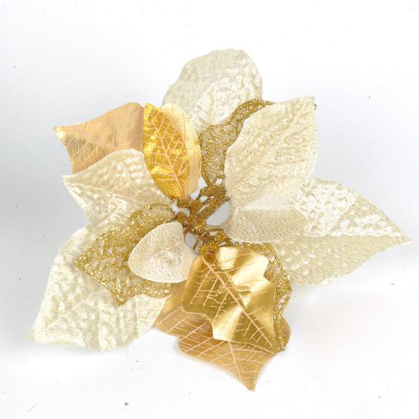 Brilliance Gold Blomst Juletræ Dekoration Supplies Festival Gaver & Festartikler
