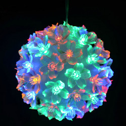 Christmas Ball Lamp Bouquet Circle Petals LED Lights For Decoration