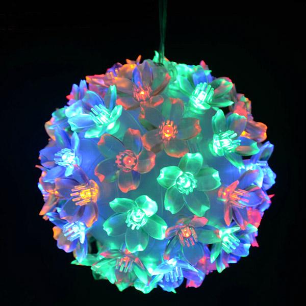 Jul Bold Lamp Bouquet Circle Kronblade LED Lights til Dekoration Festival Gaver & Festartikler