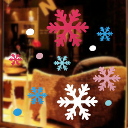 Christmas Snowflake Window Sticker Art DIY Home Decoration
