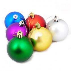 Juletræ Dekoration PVC 6 Farver Ball