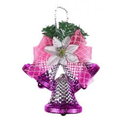 Juletræ Dekoration Pink Bell Hang