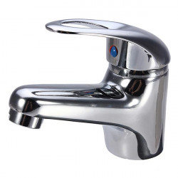 Chrome Bathroom Plated Brass Basin Sink Mixer Tap Faucet Spout Set
