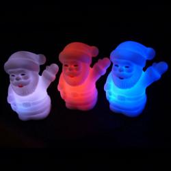 Färgglada LED Jultomten Nattlampa Lampa PVC