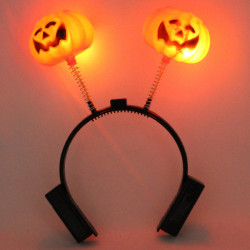 Double Pumpkin Halloween Decorations Hair Headband