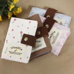 Blom- Tyg Kort Väska Med 20 Platser