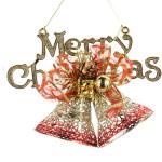 Goldene rote durchbohrte Briefmarkenweihnachtsdekoration Supplies Partyzubehör