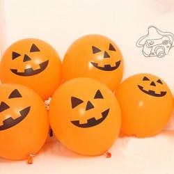 Halloween Ballon Græskar Hoved Balloon Dekoration Party