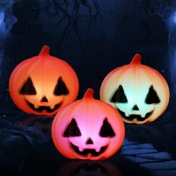 Halloween Farverige Græskar Skull LED Blinkende Lys Batterier Inkluderet