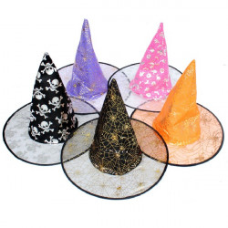 Halloween Costume Party Supplies Double Layer Wizard Hat
