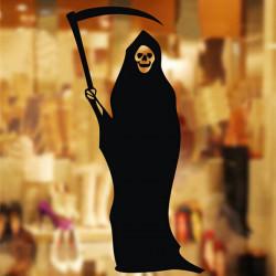 Halloween Dekoration Sticker Grim Reaper Vindue Sticker