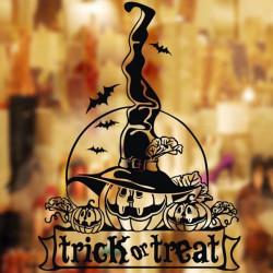 Halloween Dekoration Wallpaper Glas Stickers Væg Art