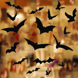 Halloween Dekoration Vinduesglas Bats Wallstickers