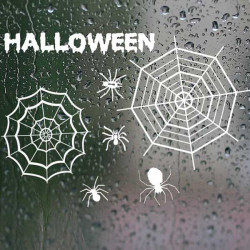 Halloween Dekoration Vinduesglas Spider Wallstickers