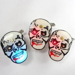 Halloween Klänning Up Terrorist Bloody Skull Blinkande Brosch Leksaker