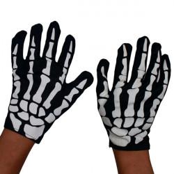 Halloween Horror Skeleton Spøgelse Klud Handsker