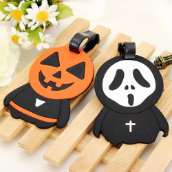 Halloween Luggage Tag Pumpkins Jack Prince Scream Luggage Tag