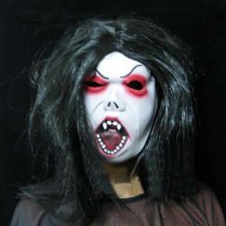 Halloween Party Kostumer Scary Mask Fin Eyebrow Sort Hår Hekse
