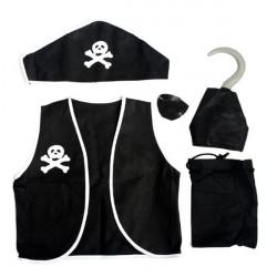 Halloween Party Piraten 5 in 1 Anzug Kostüme für Kinder & Erwachsene