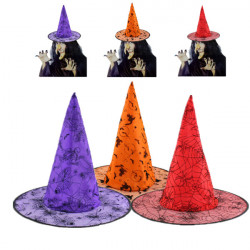 Halloween Spidse Sorceress Heks Wizard Party Kostume Hat