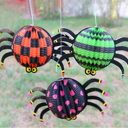 Halloween Redskaber Jack-O-Lantern Spider Papir Lanterner