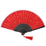 Spitze Tanzen Leistung Prop Knospe Silk klassische Folding Fan Partyzubehör